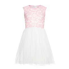 Yumi Girl - Pink Sequin Embellished Party Dress