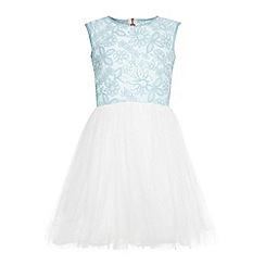 Yumi Girl - Blue Sequin Embellished Party Dress