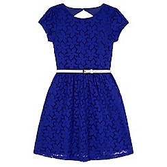 Yumi Girl - Blue Lace Skater Dress