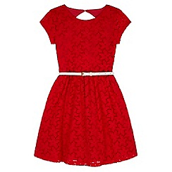 Yumi Girl - Red Lace Skater Dress