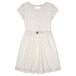 Yumi Girl - Cream Lace Skater Dress