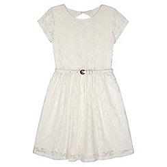 Yumi Girl - Cream Lace Skater Dress