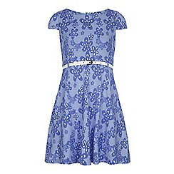 Yumi Girl - Blue Floral Print Day Dress