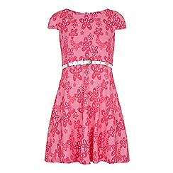 Yumi Girl - Pink Floral Print Day Dress