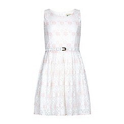 Yumi Girl - Pink Lace Skater Dress