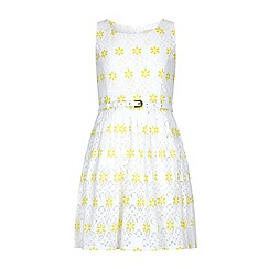 Yumi Girl - Yellow Lace Skater Dress