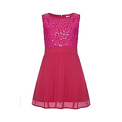 Yumi Girl - Pink Sequin Dress