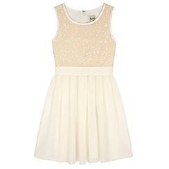 Yumi Girl - Cream Sequin Dress