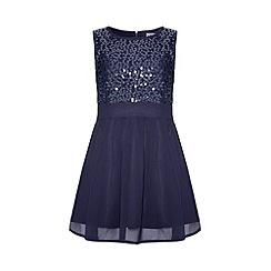 Yumi Girl - Blue Sequin Dress