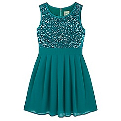 Yumi Girl - Blue Sequin Dress