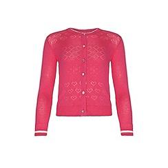 Yumi Girl - Pink Lurex Cardigan