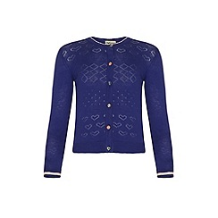 Yumi Girl - Blue Lurex Cardigan