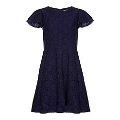 Yumi Girl - Blue Lace Dress With Sequins