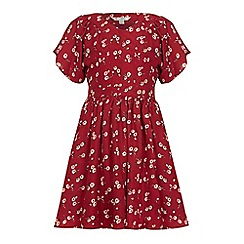 Yumi Girl - Red Floral Printed Dress