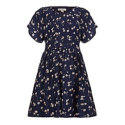 Yumi Girl - Blue Floral Printed Dress