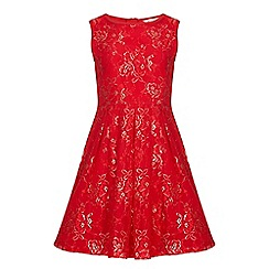 Yumi Girl - Red Party Dress With Lace