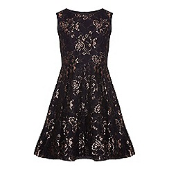Yumi Girl - Black Party Dress With Lace