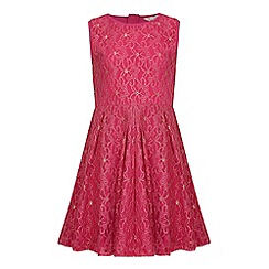 Yumi Girl - Pink Lace Party Dress