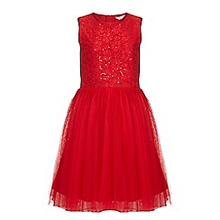 Yumi Girl - Red Tutu Dress With Sequins