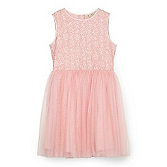 Yumi Girl - Pink sequinned tutu dress