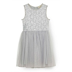 Yumi Girl - Grey sequinned tutu dress