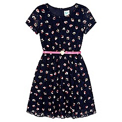 Yumi Girl - Blue Owl Print Dress
