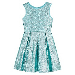 Yumi Girl - green Sequin Pleated Party Dress