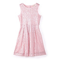 Yumi Girl - Girls' pink sequin embellished occasion dress