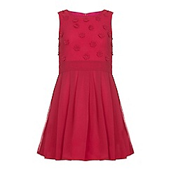 Yumi Girl - Pink Flower Embellishment Dress