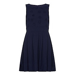 Yumi Girl - Blue Flower Embellishment Dress