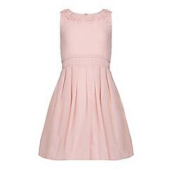 Yumi Girl - Cream Embellished Party Dress