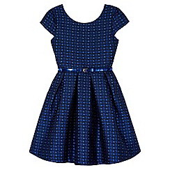 Yumi Girl - Blue Daisy Sparkle Party Dress