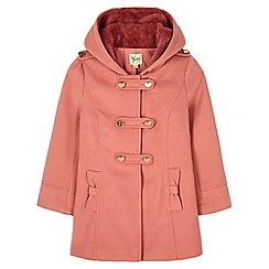 Yumi Girl - Pink Heart Duffle Coat