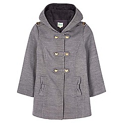 Yumi Girl - Grey Heart Duffle Coat