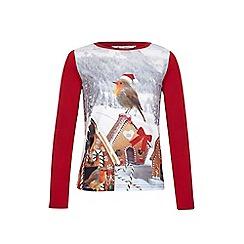 Yumi Girl - Red Robin Long Sleeve Top