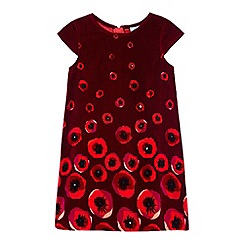 Yumi Girl - Red Embellished Cap Sleeve Dress