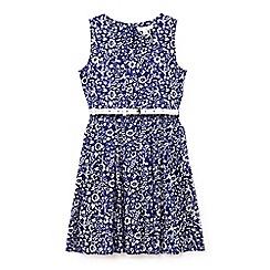 Yumi Girl - Girls' navy floral print summer dress