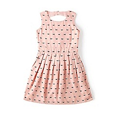 Yumi Girl - Pink sausage dog print day dress
