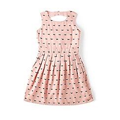 Yumi Girl - Pink sausage dog print day dress