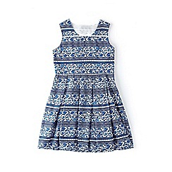 Yumi Girl - Blue floral tile print dress