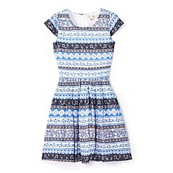 Yumi Girl - Blue aztec design dress