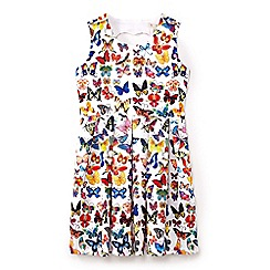 Yumi Girl - Girls' multicoloured butterfly print dress