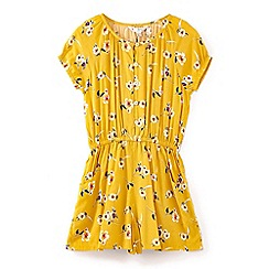 Yumi Girl - Girls' yellow flower print playsuit