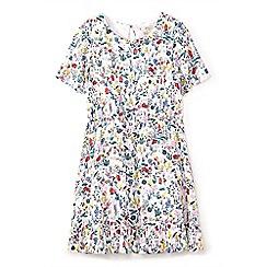 Yumi Girl - Girls' white field flower print day dress