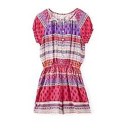 Yumi Girl - Girls' multicoloured multi print playsuit