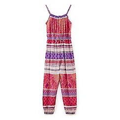 Yumi Girl - Girls' multicoloured multi print jumpsuit