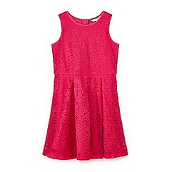 Yumi Girl - Girls' pink lace sleeveless dress