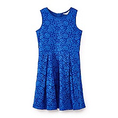 Yumi Girl - Girls' blue lace sleeveless dress
