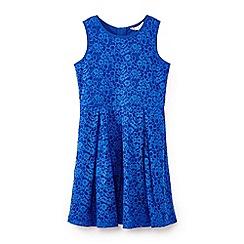 Yumi Girl - Girls' blue lace sleeveless dress