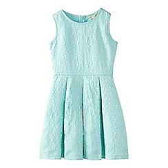 Yumi Girl - Pale green glittery floral skater dress